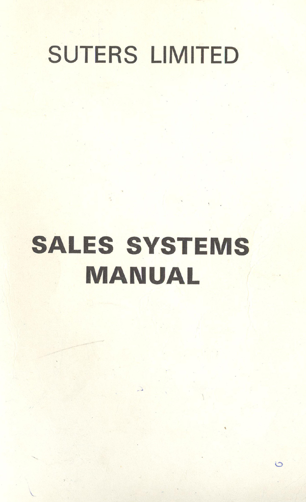 training manual for sales staff
